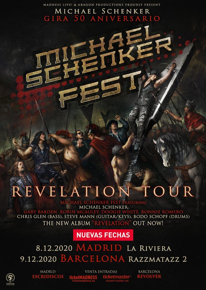 MICHAEL SCHENKER FEST EN MADRID Y BARCELONA