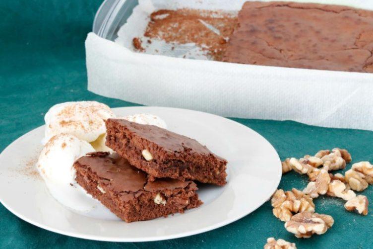 Brownie de Nutella o crema de cacao