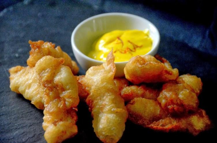 Fritos de pixin (rape) a la sidra