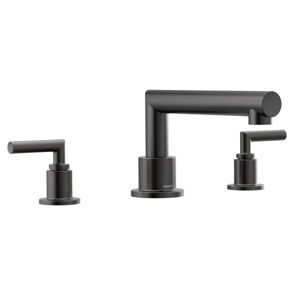 matte black two handle roman tub faucet