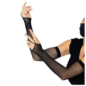 Fishnet Arm Warmer Gloves With Finger Loop by Leg Avenue