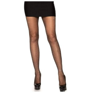 Petra Sheer Rhinestone Pantyhose by Leg Avenue