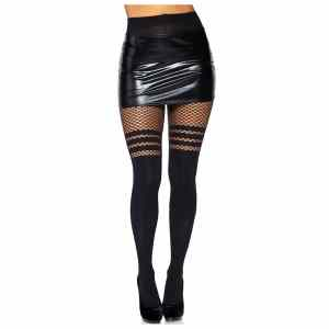 Ada Tights with Fishnet Accent by Leg Avenue