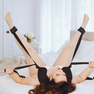 Black Swirl Super Sex Sling by Sportsheets