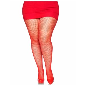 Risa Plus Size Nylon Fishnet Tights in Red – by Leg Avenue