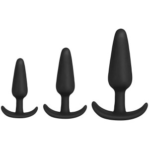 Mood Naughty 1 Trainer Silicone Anal Plug 3 Piece Set 2 Colors