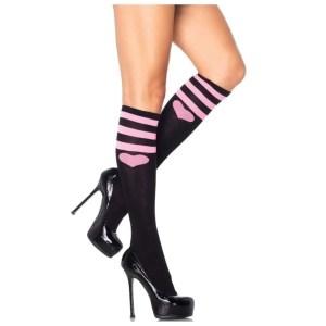 Bobby Sweetheart Athletic Knee Socks by Leg Avenue