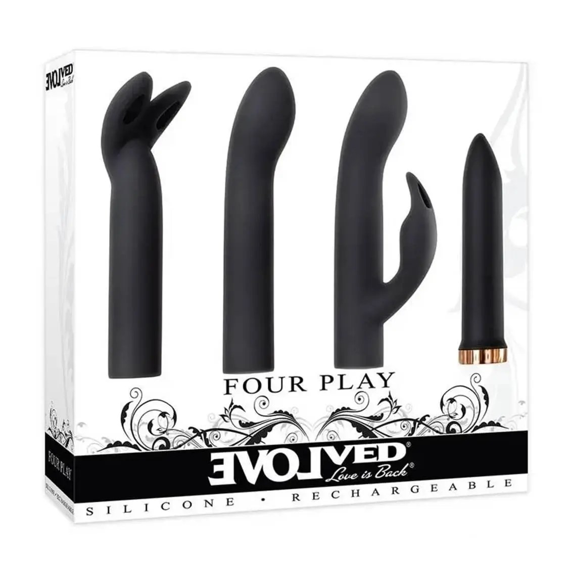 Four Play - Silicone Rechargeable Vibrating Kit - by Evolved