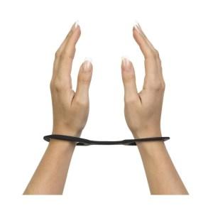 Black Quickie Cuffs - Silicone Handcuffs