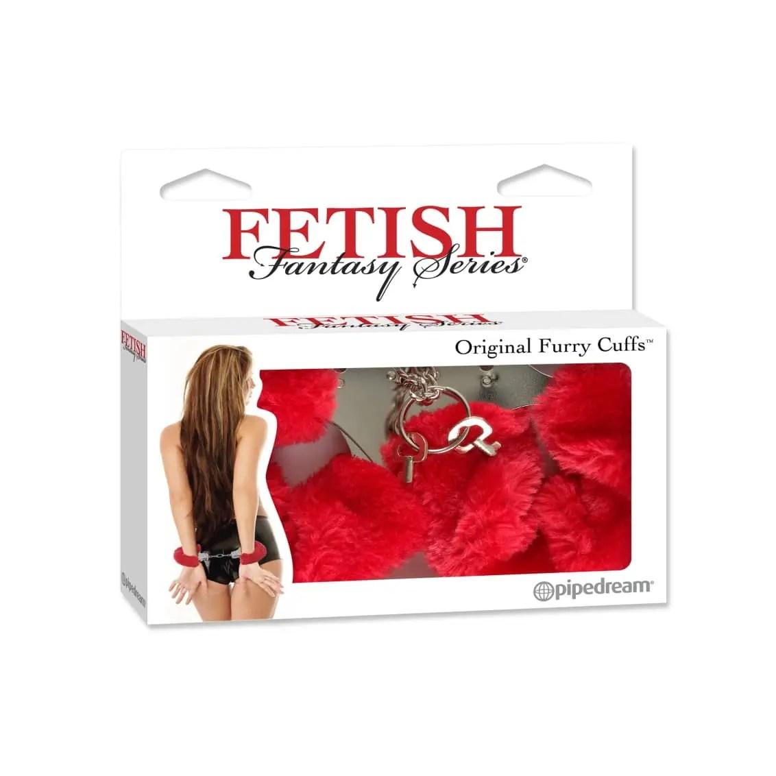 Red Fetish Fantasy Original Furry Handcuffs