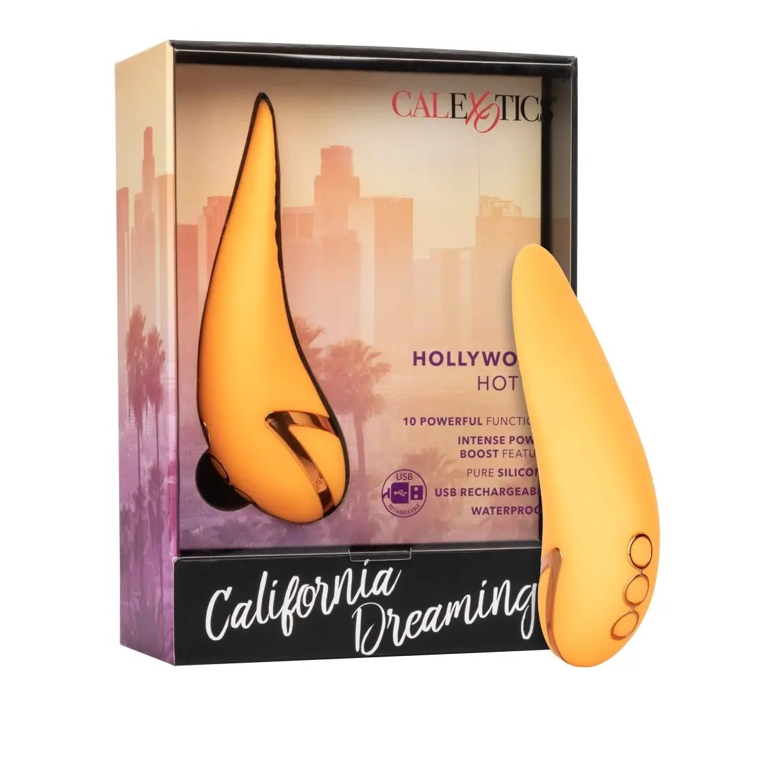 California Dreaming Hollywood Hottie Rechargeable Silicone Compact Vibrator
