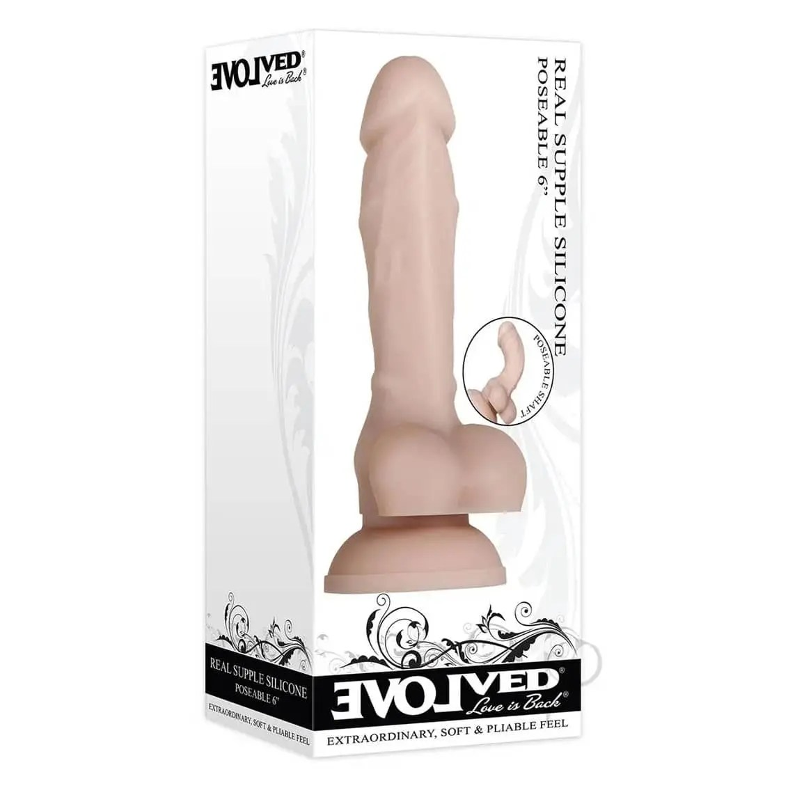 Real Supple – Poseable 6 inch Silicone Dildo