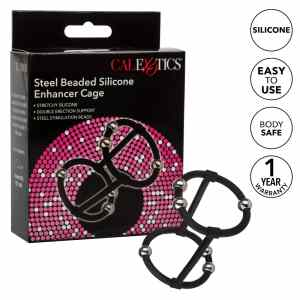 Steel Beaded Silicone Penis Enhancer Cage by Calexotics