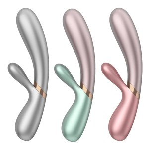 Hot Lover - Warming Dual Silicone Vibrator - by Satisfyer