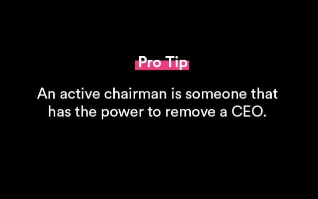 chairman vs CEO