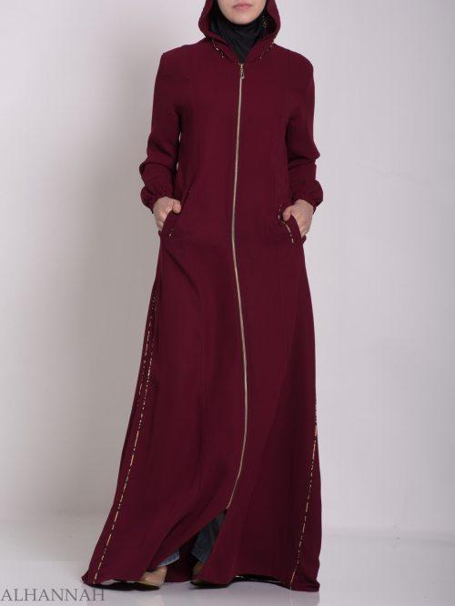 Wajihah Abaya - Moroccan Style Hooded ab672 (5)