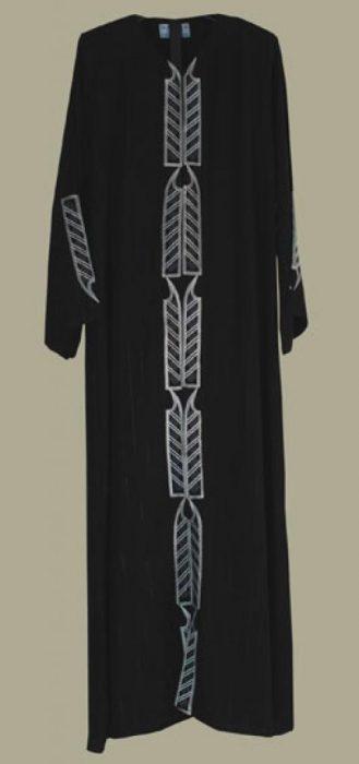 Al Karam Embroidered Pull Over Abaya ab349