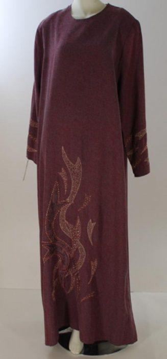 Al Karam Embroidered Ribbons Abaya  ab422