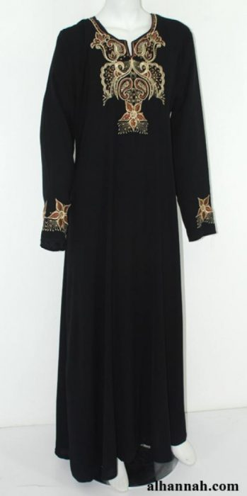 Embroidered Jordanian Abaya ab619