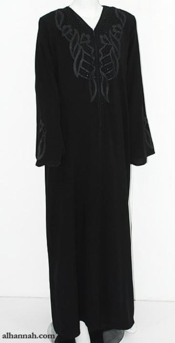 Embroidered Jordanian Abaya ab621
