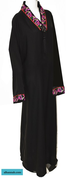 Jordanian Abaya - Pull Over with Embroidery ab659