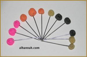 Floral Stick Hijab Pins ac155
