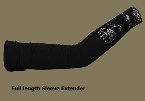 Extra Long Beaded Sleeve Extenders  ac243