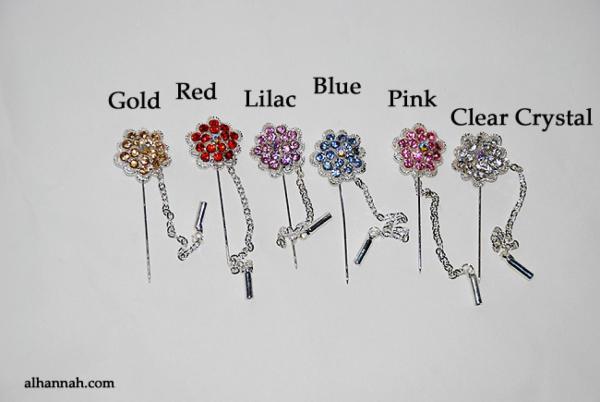 Rhinestone Stick Hijab Pins  ac285
