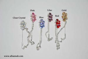Rhinestone Stick Hijab Pins  ac287