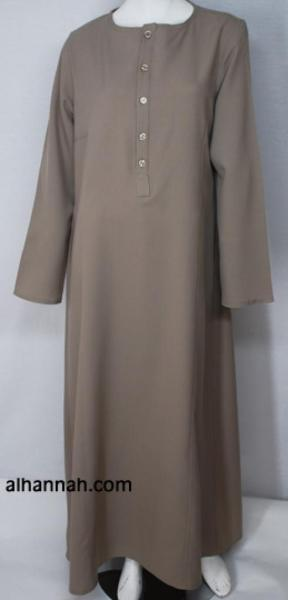 Girls Pull Over Khaki Abaya ch475