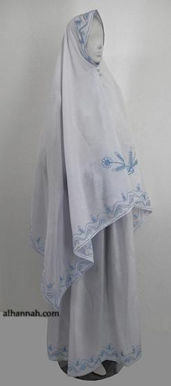 Girls Cotton Blend Embroidered Prayer Outfit  ch482