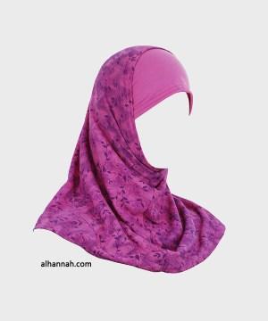Chicas Amira Floral Imprimir Hijab - 2 Pieza ch496