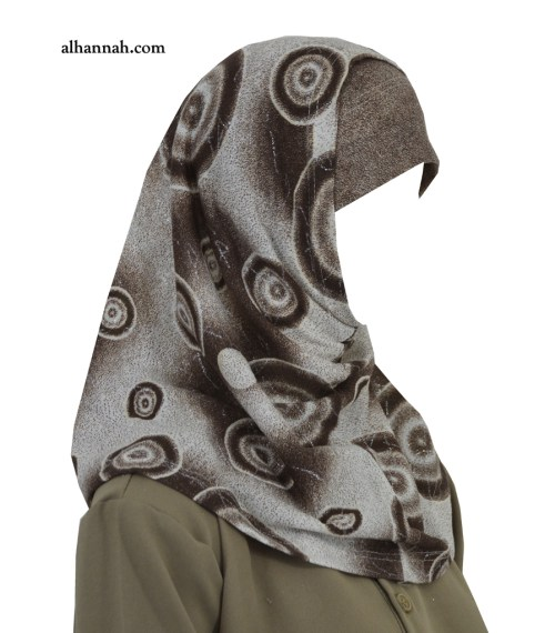 Girls AlAmirah Hijab with Spiral Print ch503