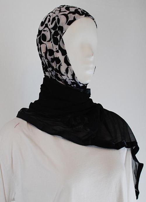 Kuwaiti style twist hijab  hi1486