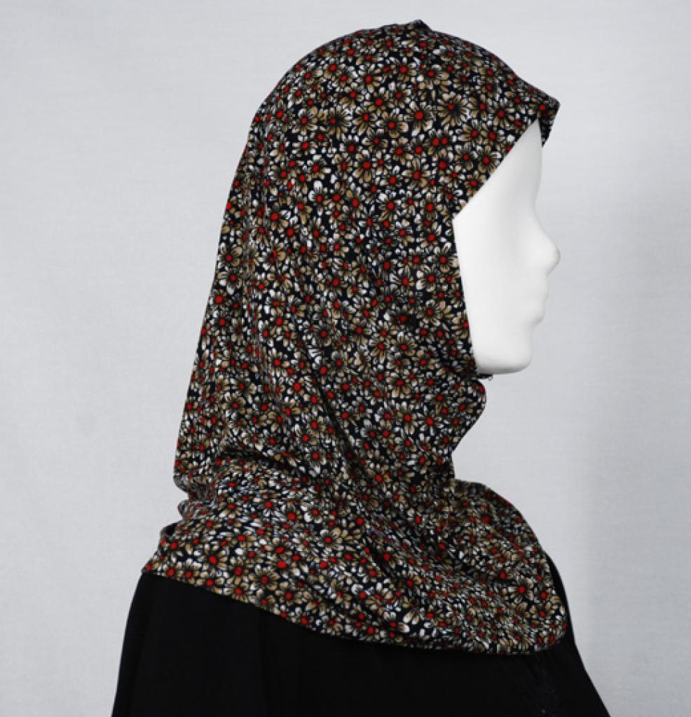 Daisy Pattern Al Amirah Hijab hi1644