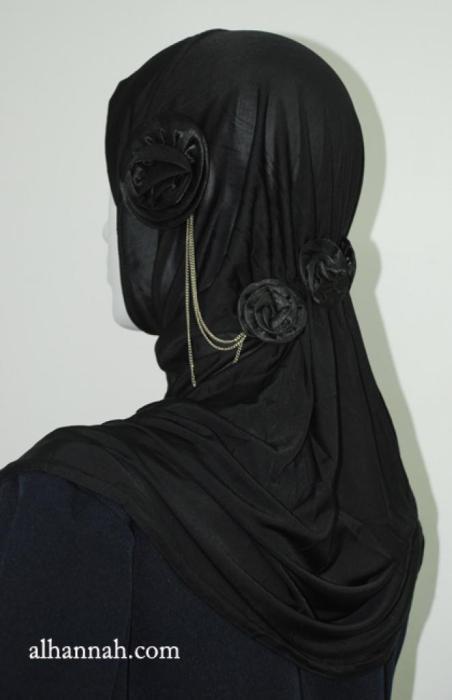 Rouched Floral Al Amirah Hijab hi1917