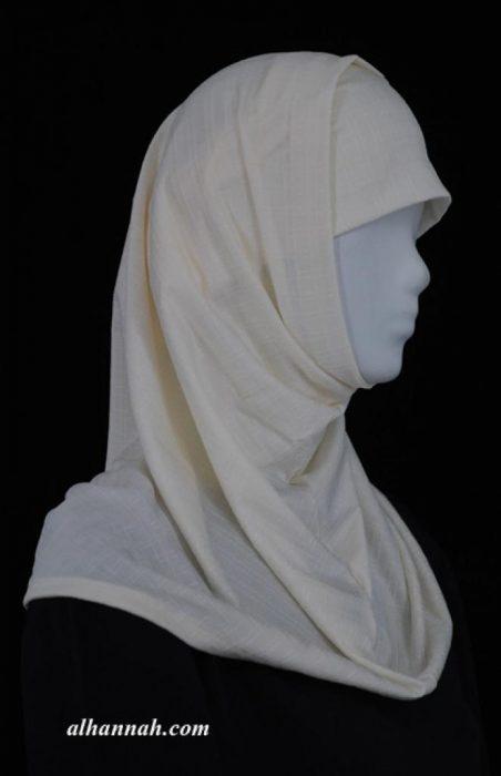 Two Piece Jacquard Al Amirah Hijab hi1931