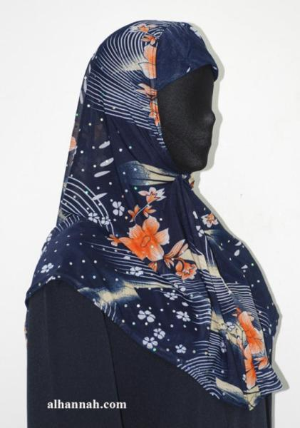 One Piece Printed Al Amirah Hijab hi1936
