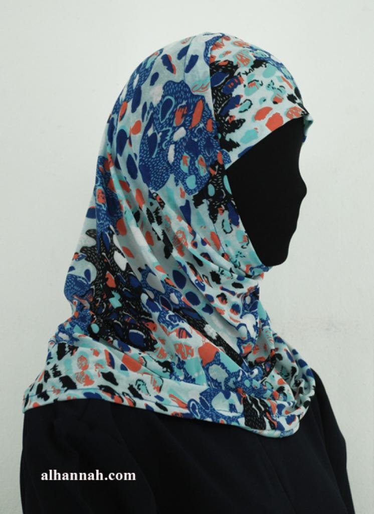 Two Piece Printed Al Amirah Hijab hi1939