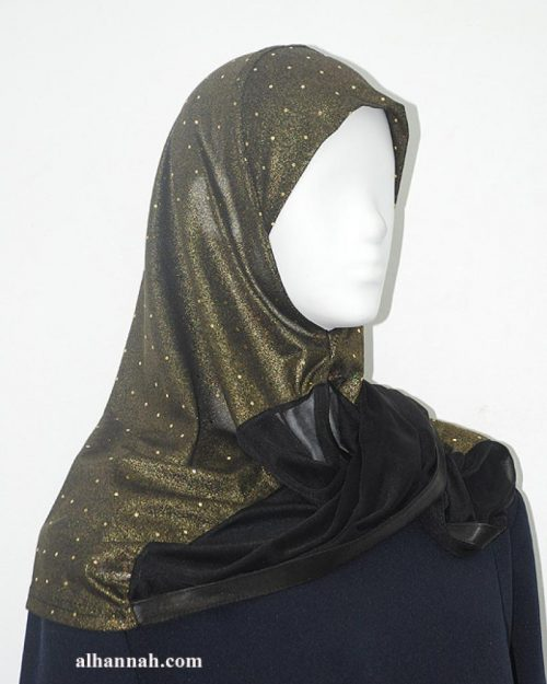 Kuwaiti style twist hijab hi1953