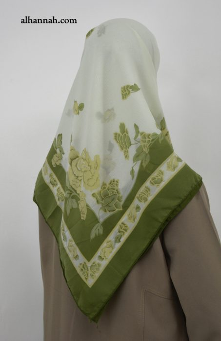 Square Hijab with classic Floral Print hi2023