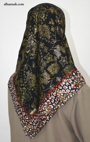 Turkish Square Hijab with Leopard Print hi2055