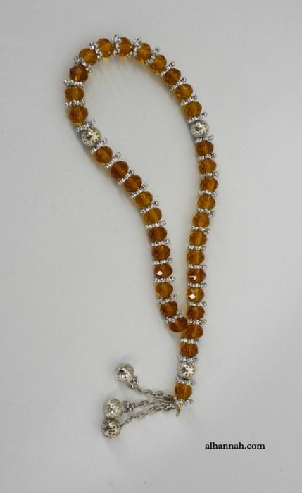 Deluxe Amber Tone Prayer Beads ii1072