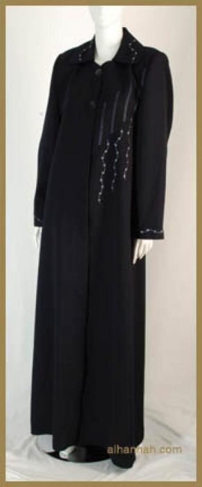 Classic Embroidered Jordanian Jilbab ji585