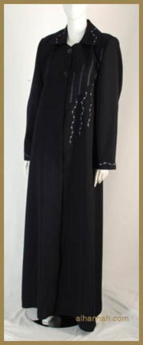 Jilbab - Classic Embroidered Jordanian Style ji585