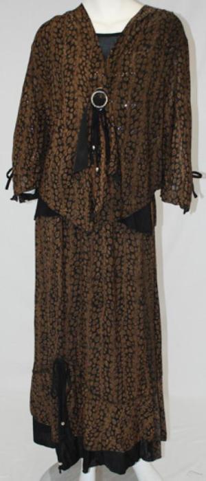 Petite Floral Skirt Set Leopard Print ji638