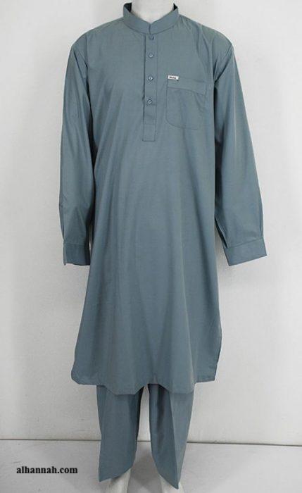 Men's Solid Color Salwar Kameez - No Embroidery  me458