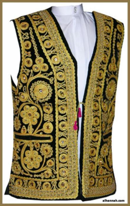 Men's Embroidered Vest  me471