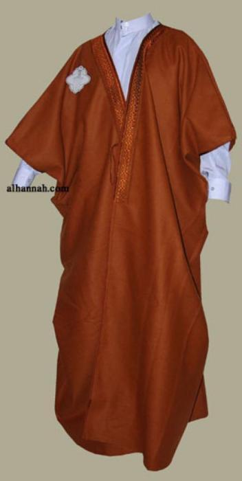 Men's winter weight wool abaya  me487