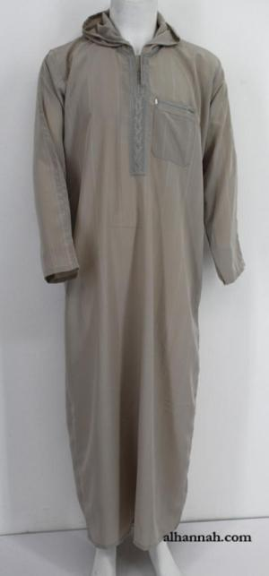 Deluxe Moroccan Hooded Dishdasha me654